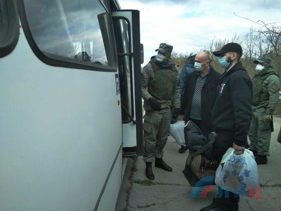 «ЛНР» и украинская сторона обменялась пленными. Трое возвращаться о ОРЛО отказались