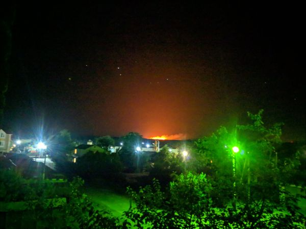 В Донецкой области масштабный пожар. Горит трава и лес