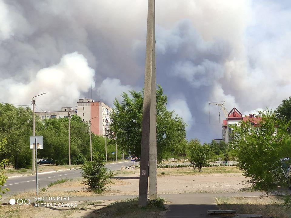 В Новоайдарском районе не могут потушить лесные пожары. Облако дыма дошло до Старобельска
