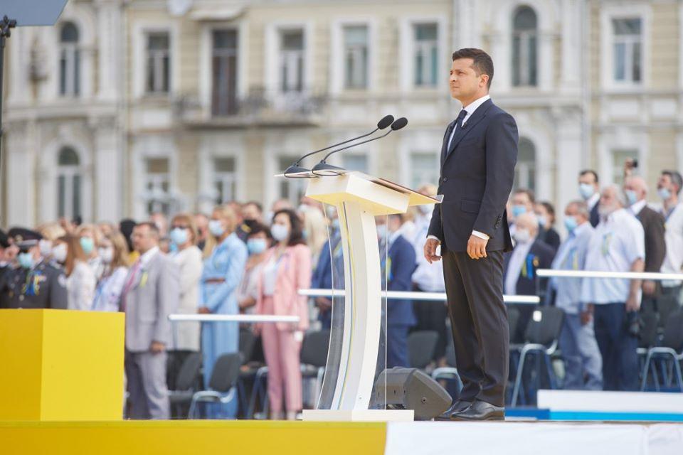 Что Зеленский рассказал о Луганске в своей речи ко Дню Независимости