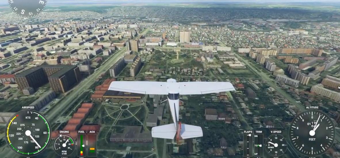 Летим домой! Авиасимулятор Microsoft Flight Simulator предлагает вирутальный полет над Луганском