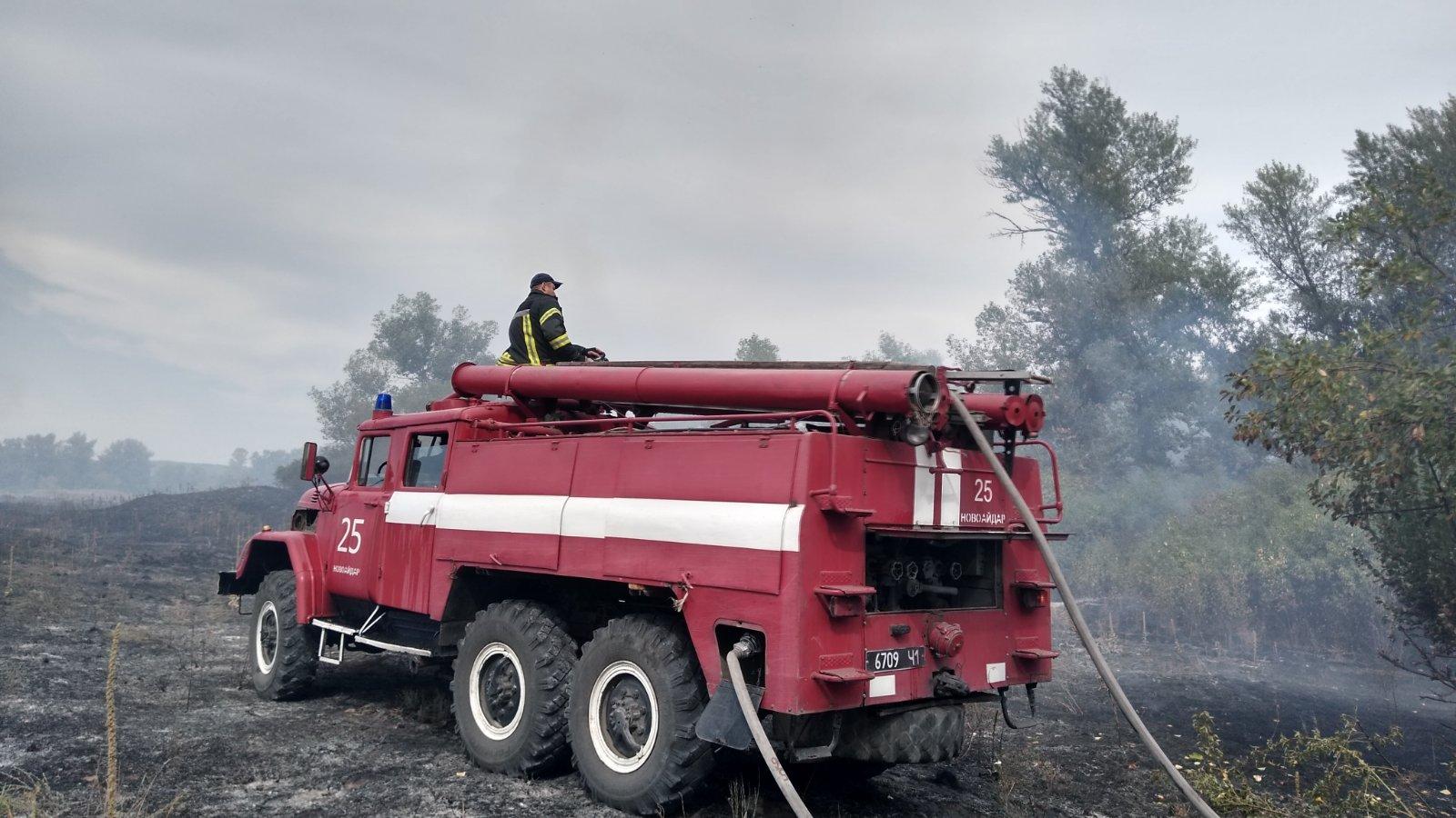В Луганской области потушили лесной пожар между двумя селами