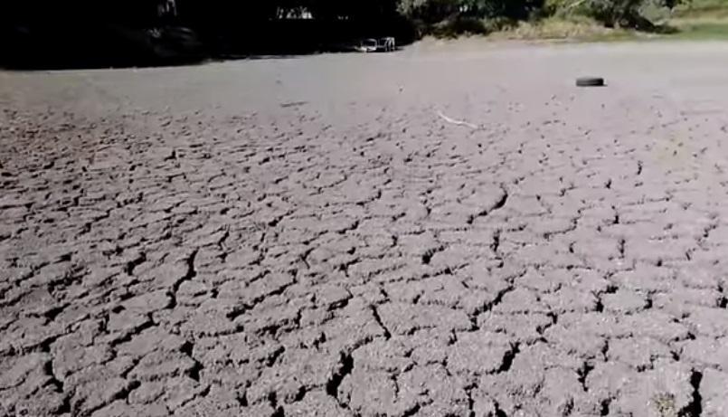 В Луганске высохло озеро «Восьмерка» (видео)