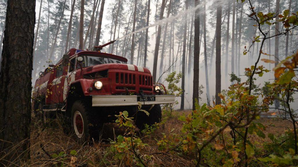 С начала пожара в Луганской области авиация сбросила на горящие ласа почти две тысячи тонн воды