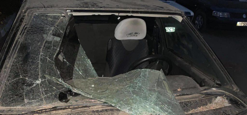 В Лисичанске разбили автомобиль правозащитницы
