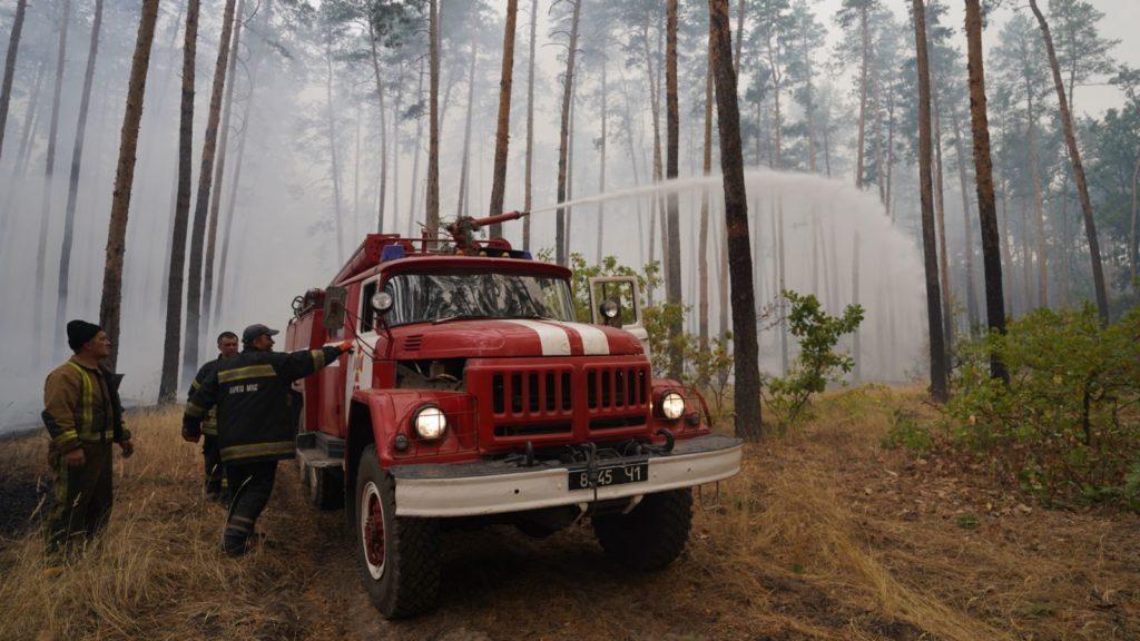 Лесной пожар в Луганской области. Горит уже 20 тыс. гектар