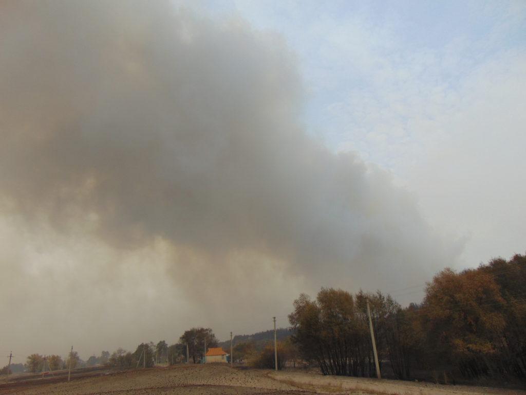 Площадь пожаров в Луганской области увеличилась