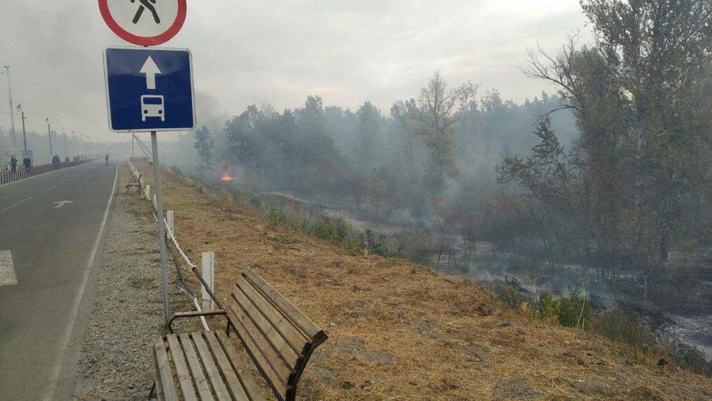 Из-за пожаров КПВВ «Станица Луганская» прекратил работу