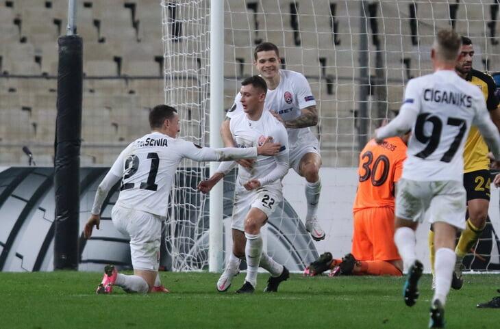 «Заря» одержала первую победу в этом сезоне Еврокубков. Забили три гола