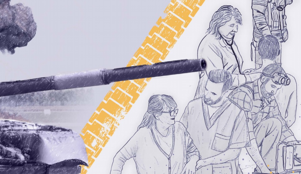 Онлайн-презентация отчета о медиках, соцработниках, спасателях и коммунальных службах на войне