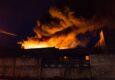 В Донецке огонь частично уничтожил здание мясокомбината