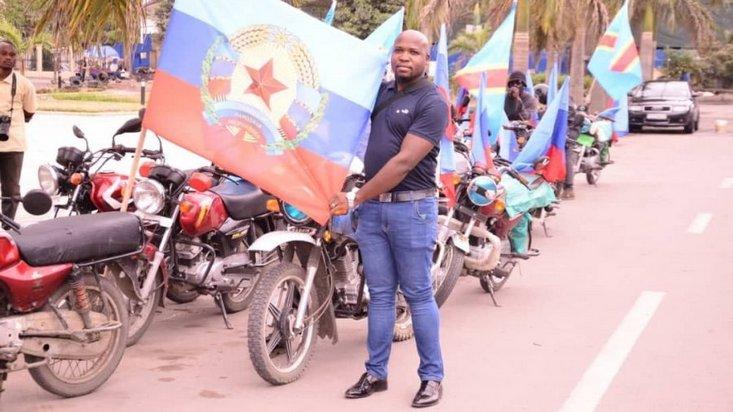 В Республике Конго, которая не признала «республики Донбасса» провели мотопробег с флагами «ЛНР»